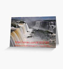 Links to a video of Iguazu Falls Greeting Card