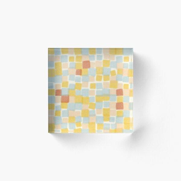 Beachy summer squares  Acrylic Block
