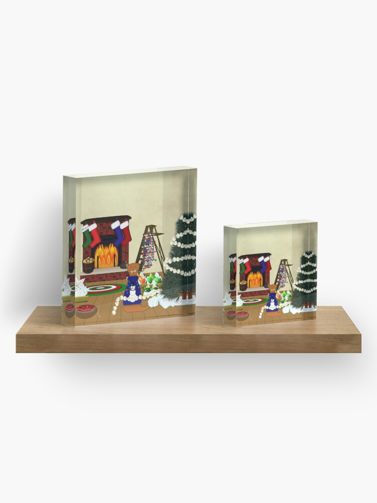 Alternate view of Oliver Decorates for Christmas Acrylic Block