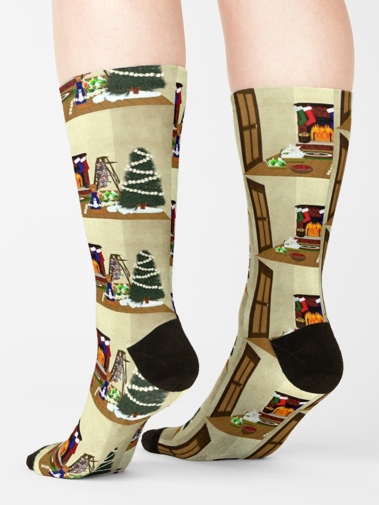 Alternate view of Oliver Decorates for Christmas Socks