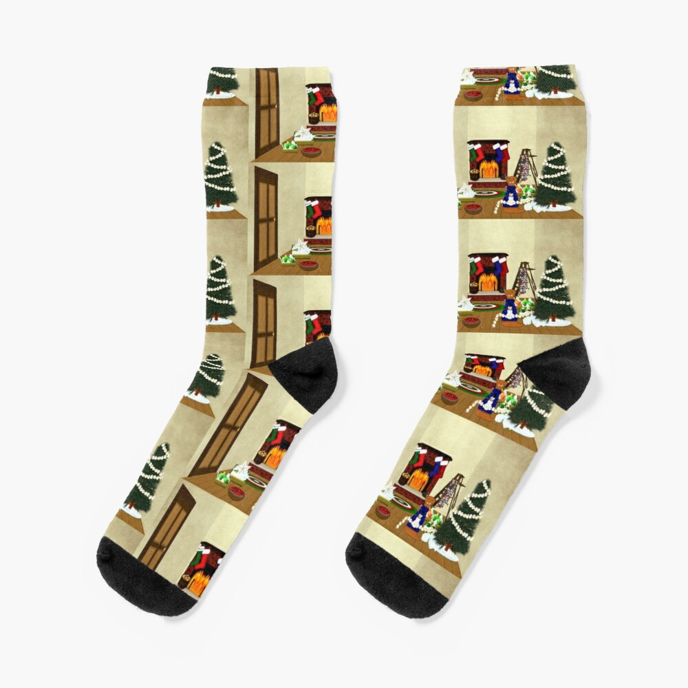 Oliver Decorates for Christmas Socks