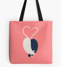 Ratty Love - Heart tails Tote Bag