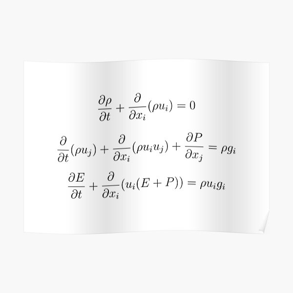 Conservation Laws for Gas Dynamics with a Classical Gravitational Field Poster