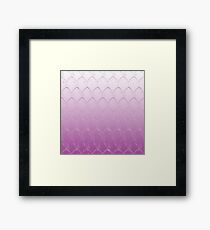 Purple Dragon Scales Framed Print