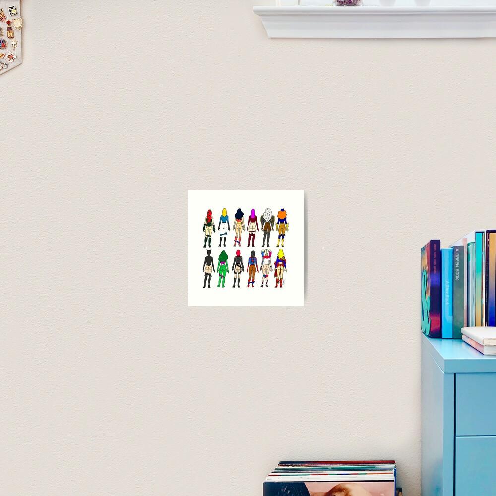 Superheroine Butts LV Art Print
