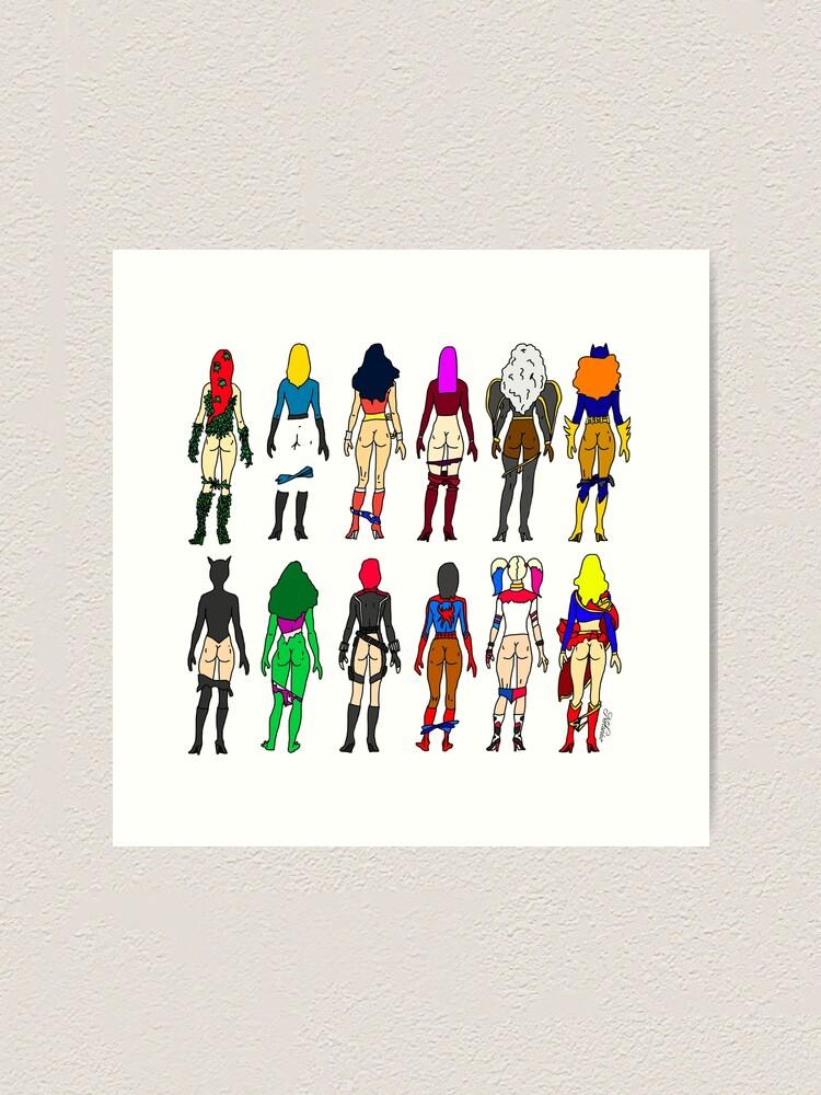 Alternate view of Superheroine Butts LV Art Print