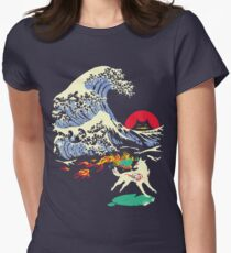 The Great Wave off Oni Island Women's Fitted T-Shirt