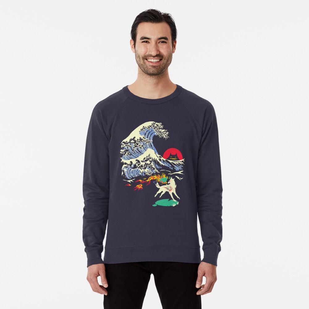 The Great Wave off Oni Island Lightweight Sweatshirt