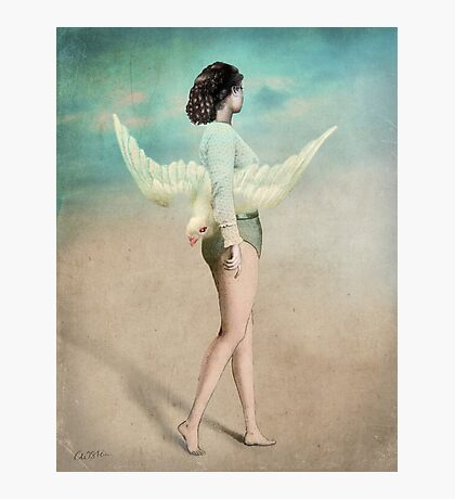 She took her wings and walked Photographic Print