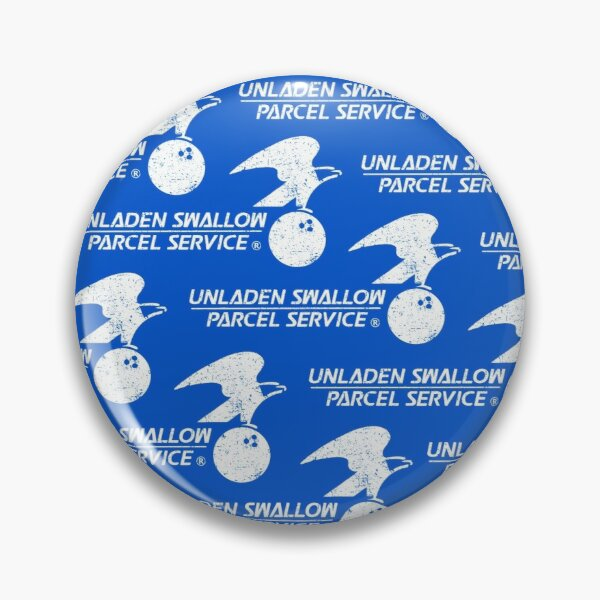 Unladen Swallow Parcel Service Mask Pin
