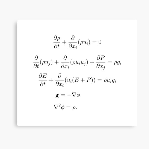 Gas Dynamics with Classical Gravitation Canvas Print