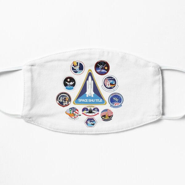 NASA Challenger Space Shuttle Missions  Flat Mask