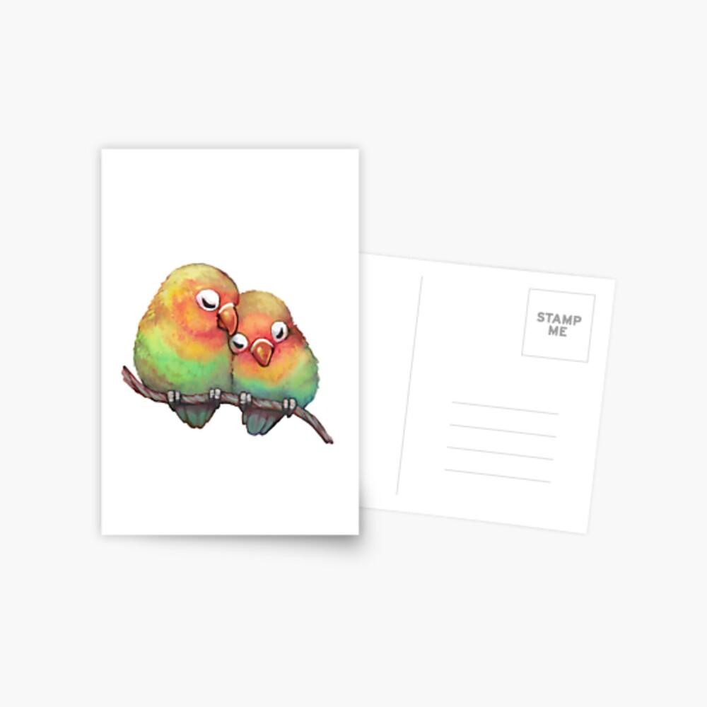 Lovebirds Postcard