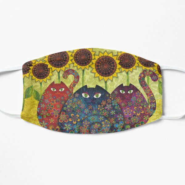Cats With Sunflowers Mask