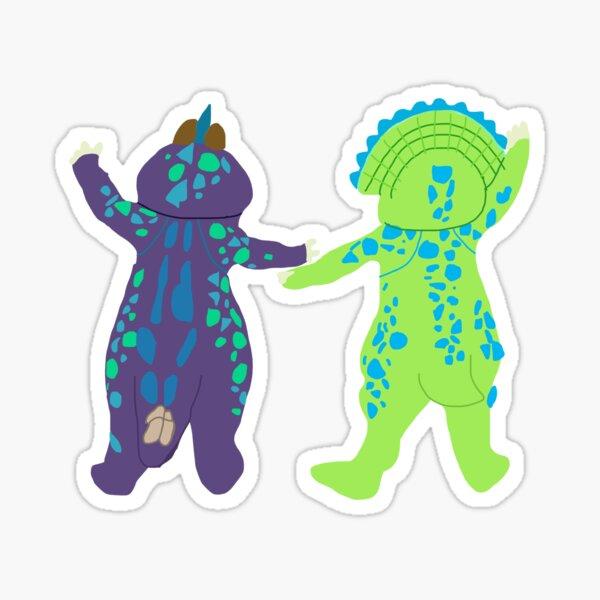 Chipmunks in Dinosaur Onesies Sticker