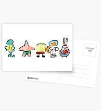Sponge - Minimal - Digital Repaint [ROUFXIS - RB] Postcards