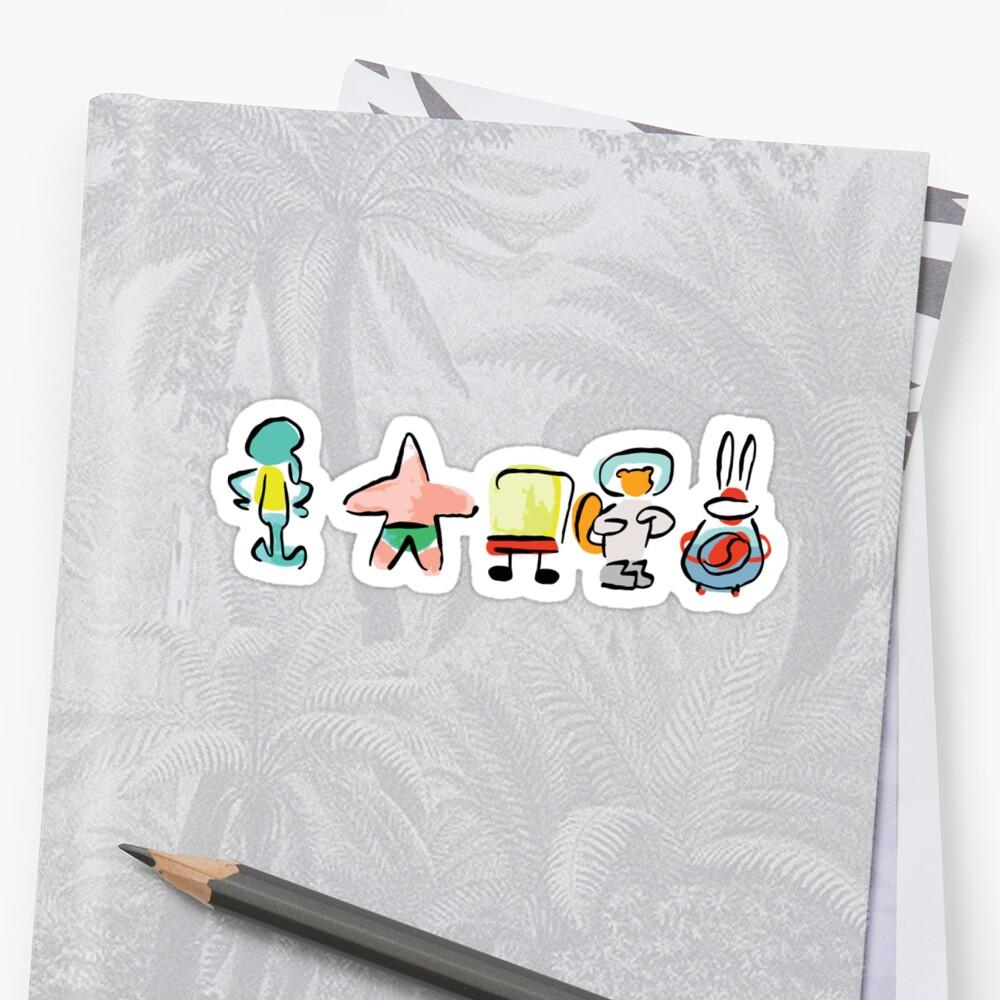 Schwamm - Minimal - Digital Repaint [ROUFXIS - RB] Sticker