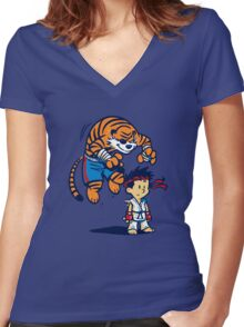 Tiger! Women's Fitted V-Neck T-Shirt