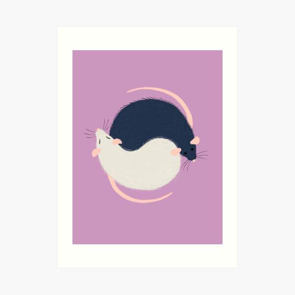 Ratty Love - Ying Yang Art Print