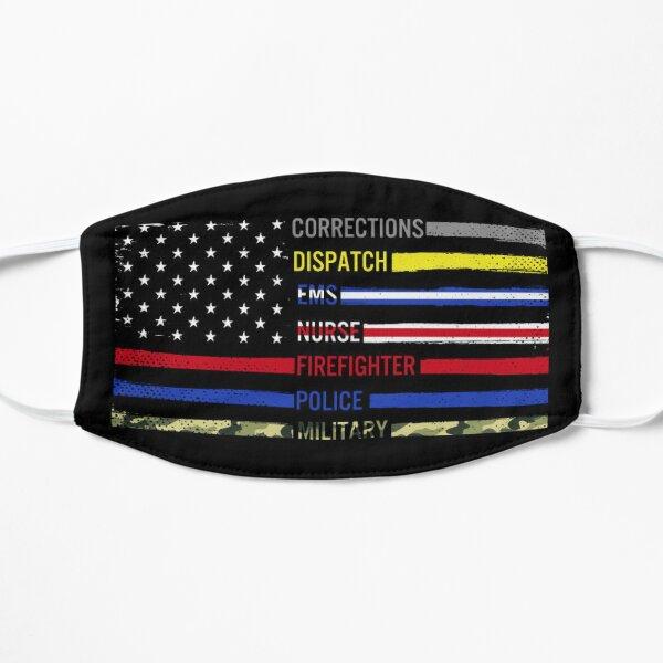 First responder flag graphic design  Flat Mask