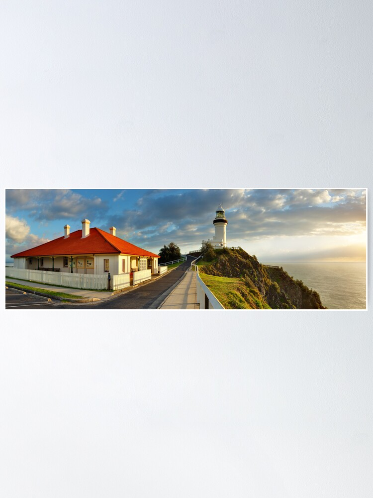 Alternate view of Cape Byron Lighthouse, New South Wales, Australia Poster