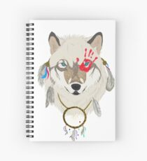 Spirited Wolf Spiral Notebook
