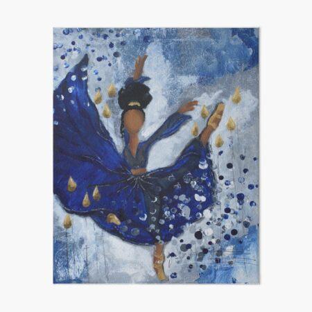 Misty Ballerina, African American Ballerina, Dance Art Board Print