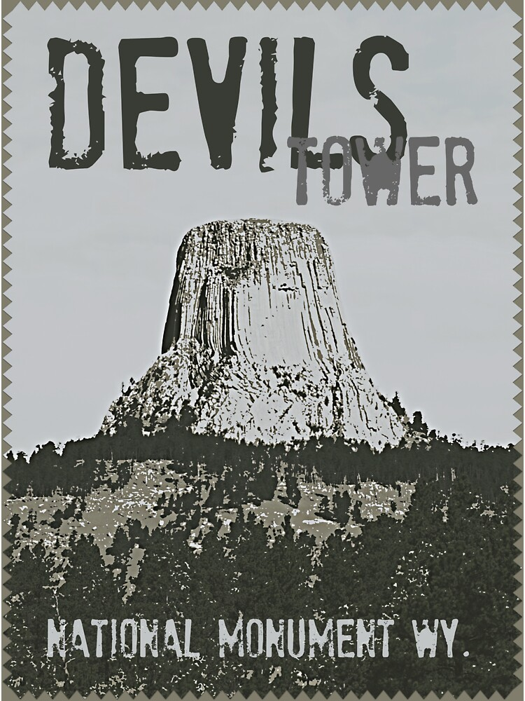 Devils Tower Stamp by tsarts