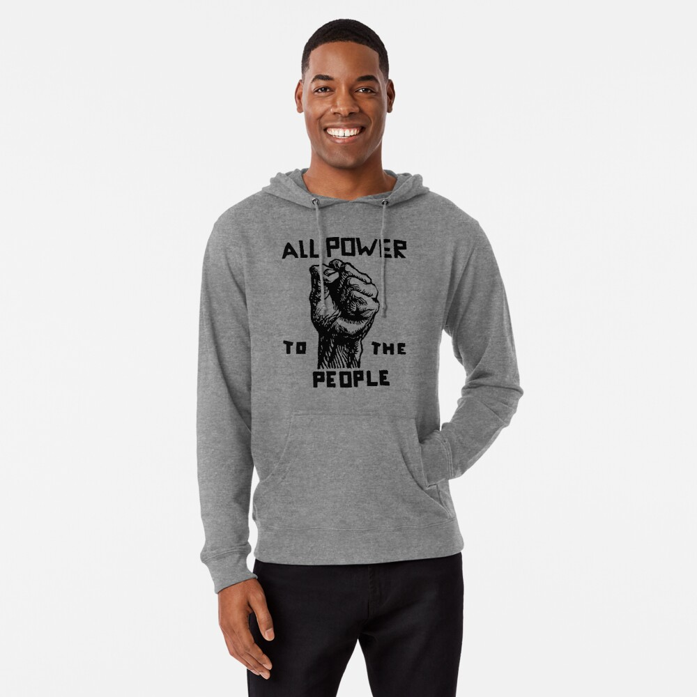 ALL POWER TO THE PEOPLE Lightweight Hoodie