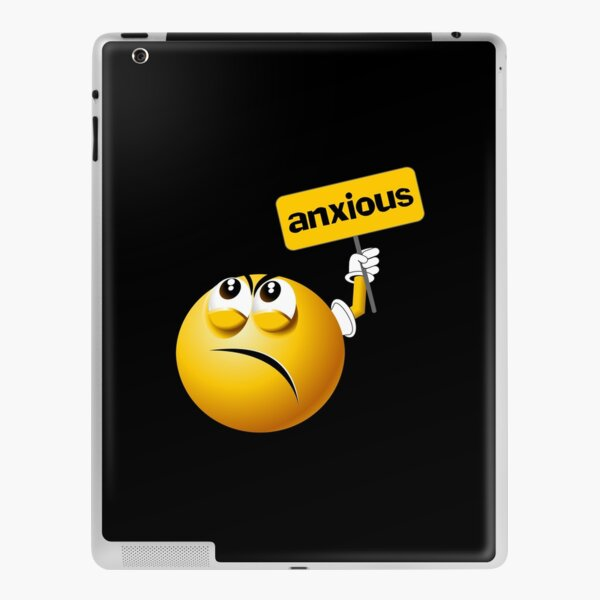 Anxious Smiley Funny Emoji Icon iPad Skin