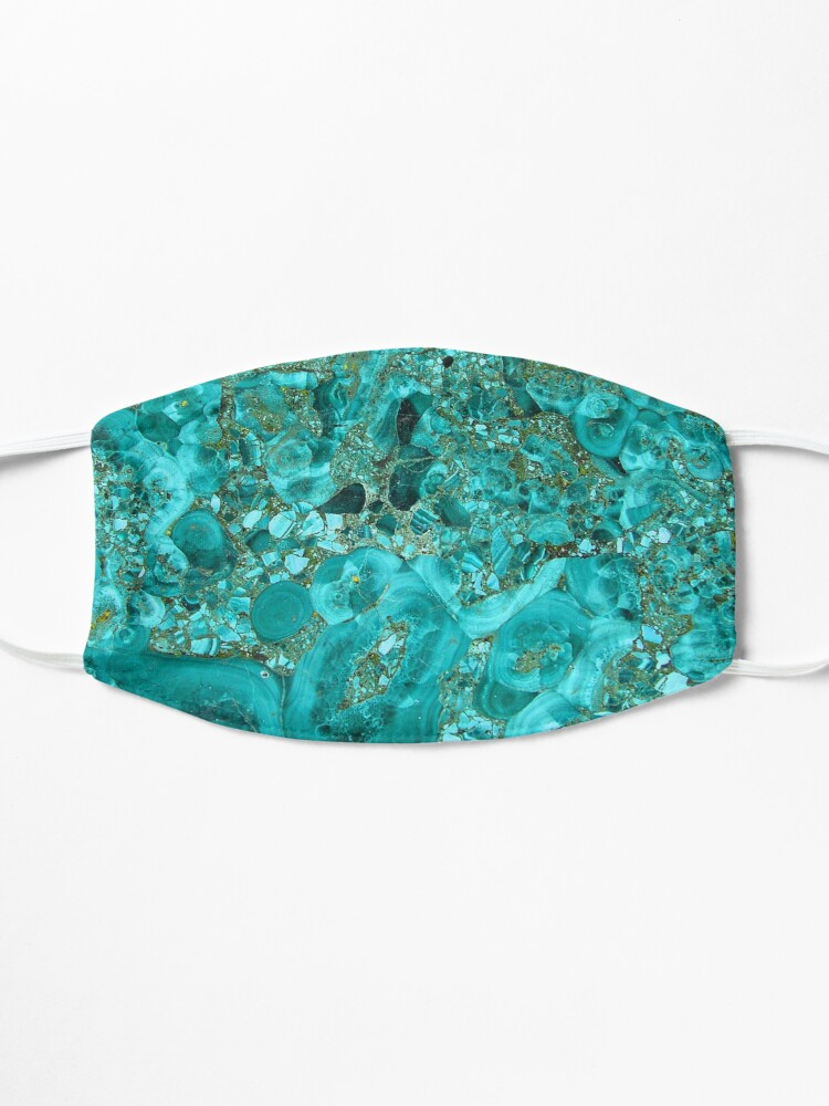 Alternate view of  Marble Turquoise Blue Gold Mask