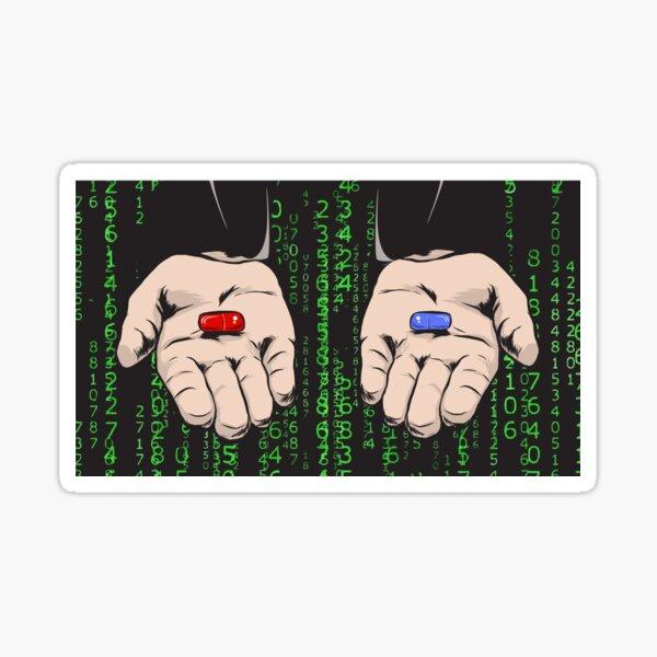 ¿Tomas la pastilla azul o la roja? Pegatina