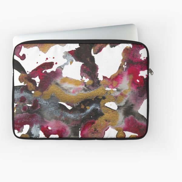 Red, black & gold Laptop Sleeve