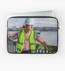 Working the walkways of the Thames in London with Ash Laptop Sleeve