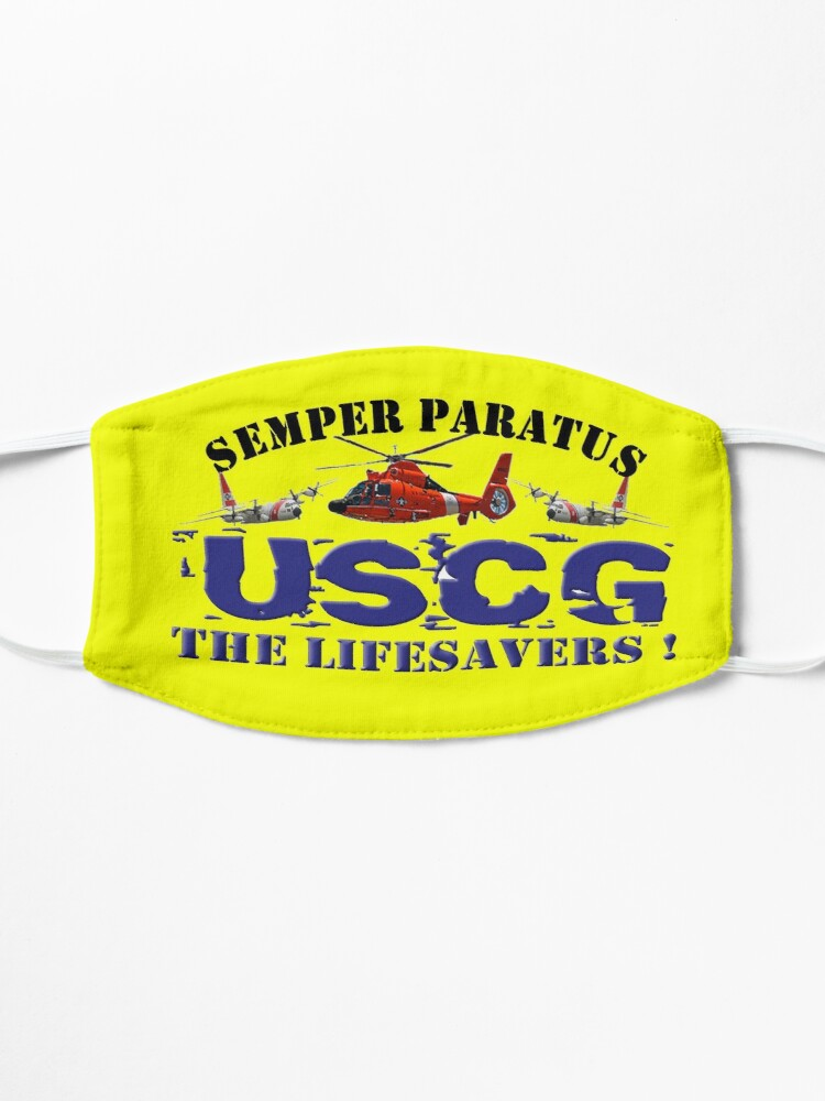 Alternate view of Semper Paratus USCG The Life Savers! Mask