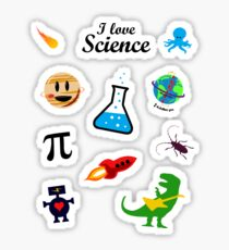 I Love Science (black version) Sticker