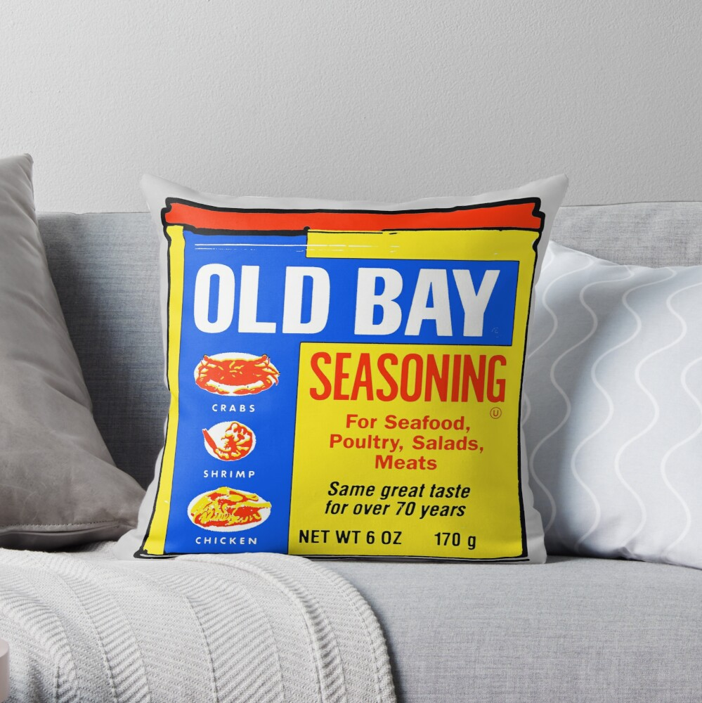 Old Bay Can Throw Pillow