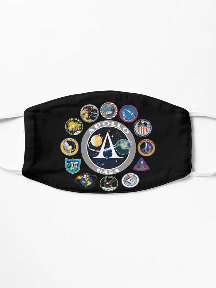 Alternate view of Apollo Missions Patch Badge - NASA Program Mask