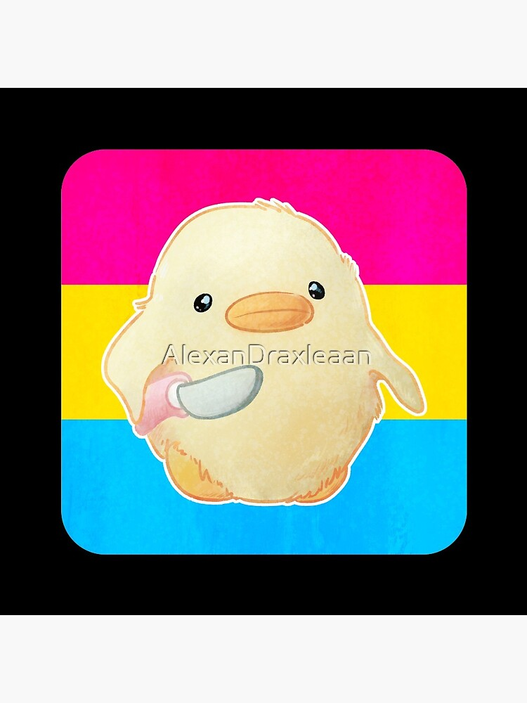 Pansexual Pride Duck with Knife by AlexanDraxleaan