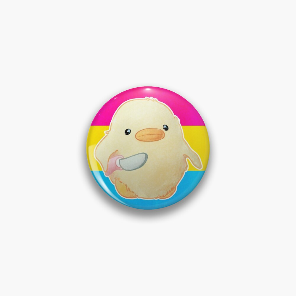 Pansexual Pride Duck with Knife Pin
