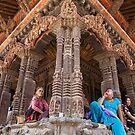 Hindu temple, Patan, Nepal by John Spies