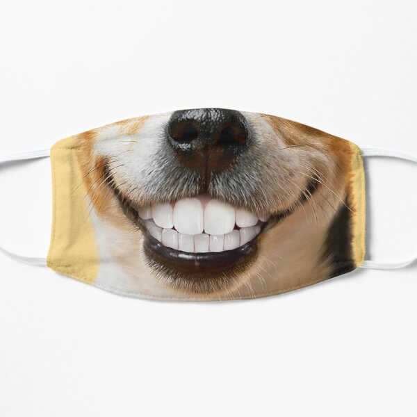 Jack Russell Dog Funny Face Mask  Flat Mask