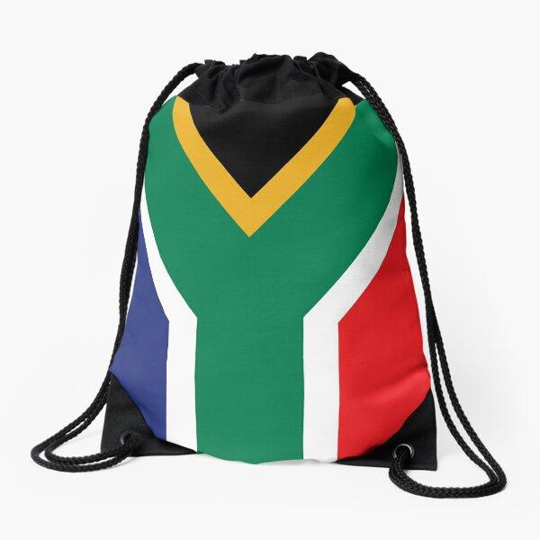 South Africa Flag Drawstring Bag