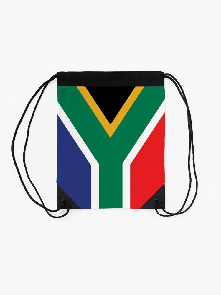 Alternate view of South Africa Flag Drawstring Bag