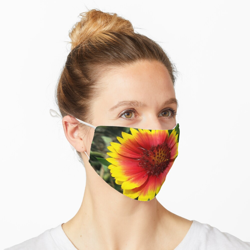 Red and Yellow Sunflower Mask