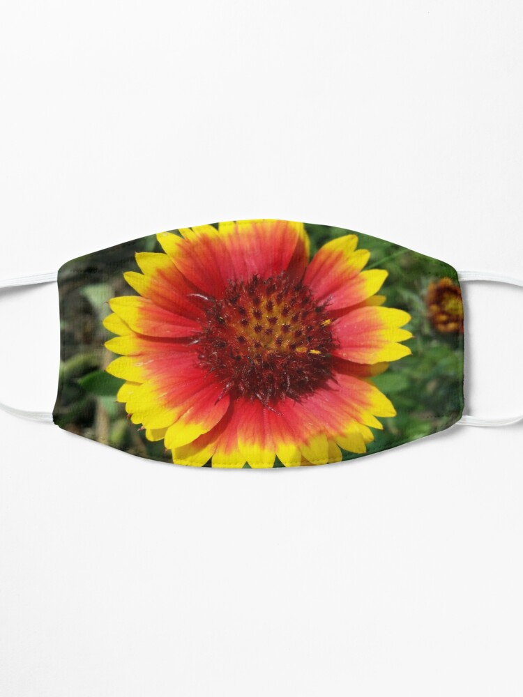 Alternate view of Red and Yellow Sunflower Mask