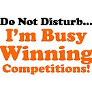 Do Not Disturb... I'm Busy Winning Competitions! by Jessica Slater