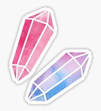 Pegatina Watercolor Crystals