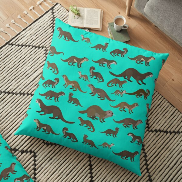 Know Your Otters Floor Pillow