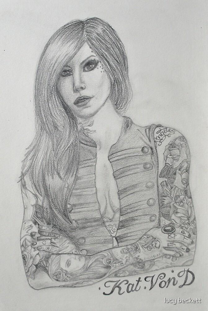 Kat Von D portrait  by lucy beckett